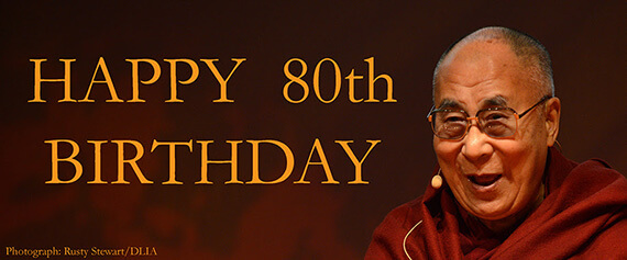 Happy 80th Birthday His Holiness!