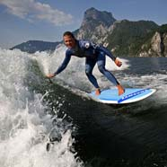 surf's up in Austria